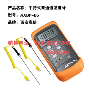 双通道温度计AXBP-B5 手持式双通道温度计AXBP-B5 便携式双通道温度计AXBP-B5 西安双通道温度计