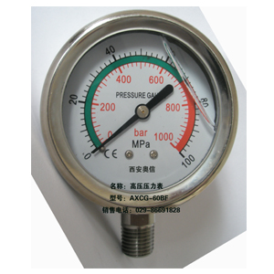 70MPa压力表 100MPa高压压力表 Y-60 100MPa压力表 100MPa不锈钢耐震高压压力表