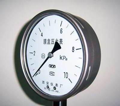 不锈钢膜盒压力表,YE-100B,YE-15