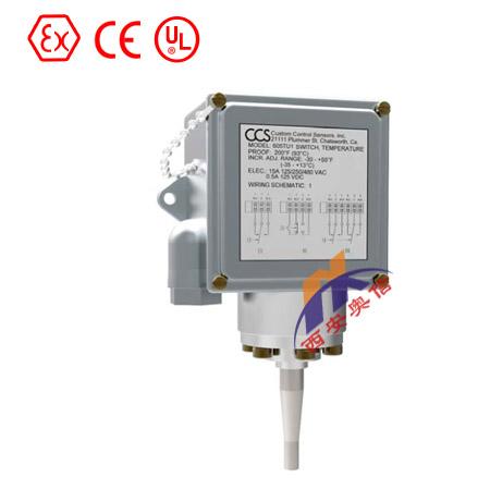 美国CCS机械式温度开关 604TU1 CCS开关 美国CCS毛细管温度开关
