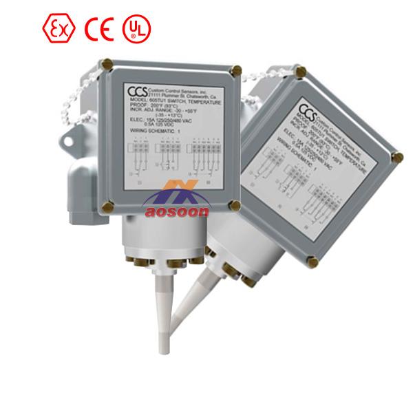 CCS毛细管温度开关 604TU4 美国CCS温度开关 美国CCS机械式温度开关