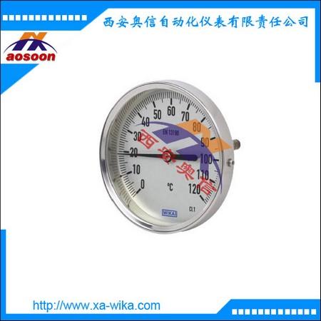 A52.063威卡双金属温度表 轴向温度计 WIKA温度表