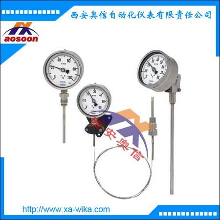 威卡压力式温度计 F73.100-C1E-1BK-E0100气包式温度计
