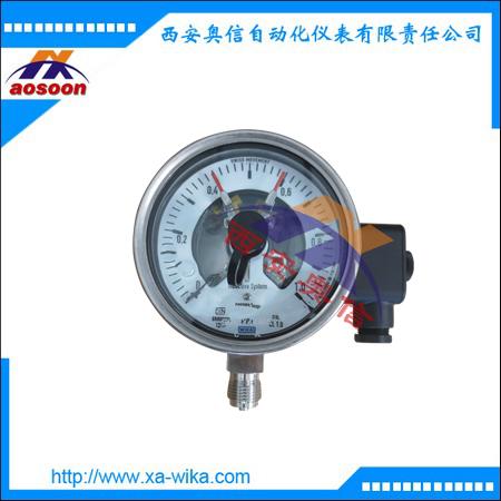 威卡PGS23.100电接点压力表 PGS23.160开关量压力表 wika代理