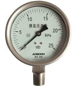 全不锈钢膜盒压力表,YE-100B,YE-150B