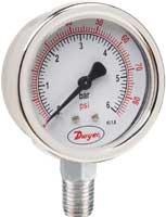 美国DWYER压力表 64030V 64015 64030 64060 640100 640160 640200不锈钢压力表
