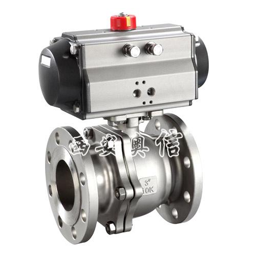 气动球阀AXQ641F-16不锈钢气动球阀