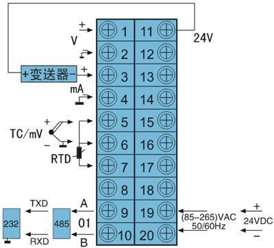 液晶显示数字仪表接线图