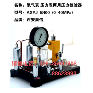 AXYJ-B400(LYL-40)压力校验台 氧气表压力表两用校验器