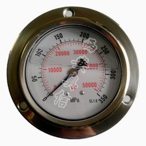 AXCG-100BFN超高压不锈钢耐震压力表0-350Mpa50750PSI