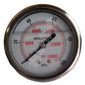 超高压不锈钢耐震压力表 AXCG-100BF