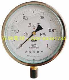 西安仪表厂YTN-100抗震压力表