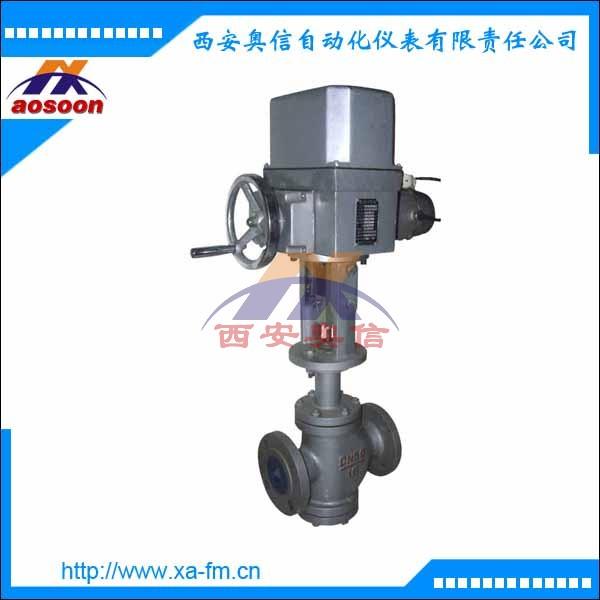 电动双座调节阀ZAZN-16 DN150 ZAZN电动直行程双座调节阀