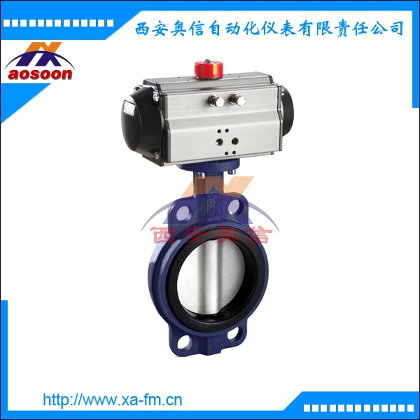 D671F-16气动调节蝶阀 D671气动对夹式蝶阀