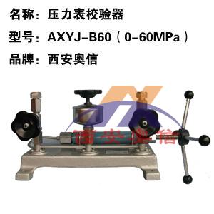 AXYJ-B60(0-60Mpa)高压压力校验器 压力校验仪表