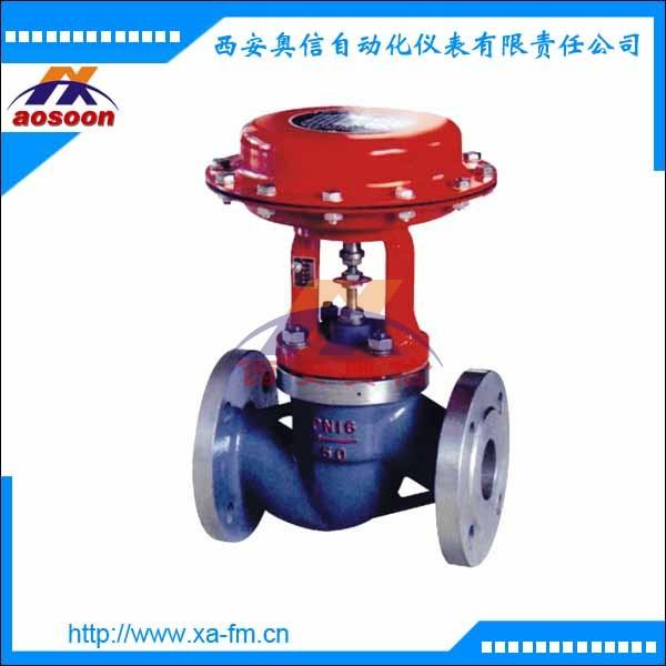气动薄膜三通切断阀 ZMQP-16 DN65气动三通阀