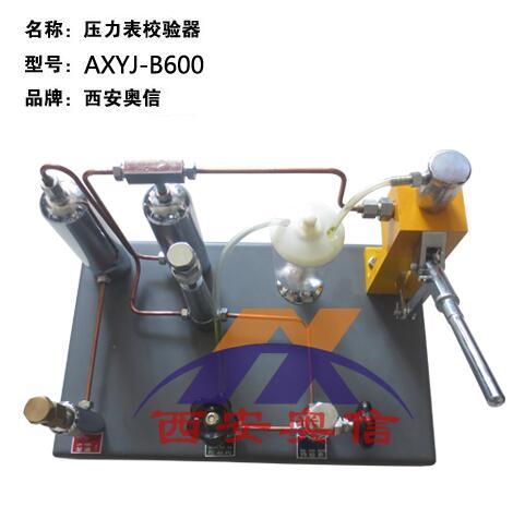 AXYJ-B600压力氧气校验台 压力表氧气表两用校验器