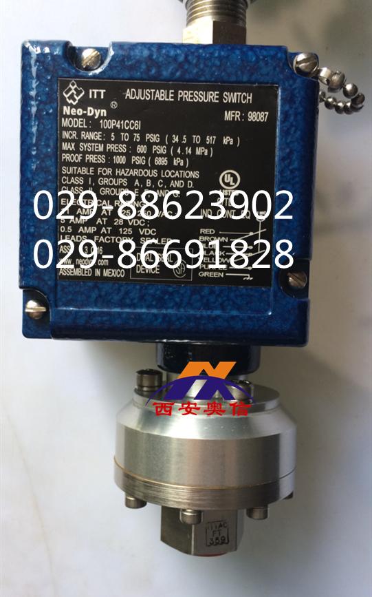 100P41CC6I,美国ITT压力开关