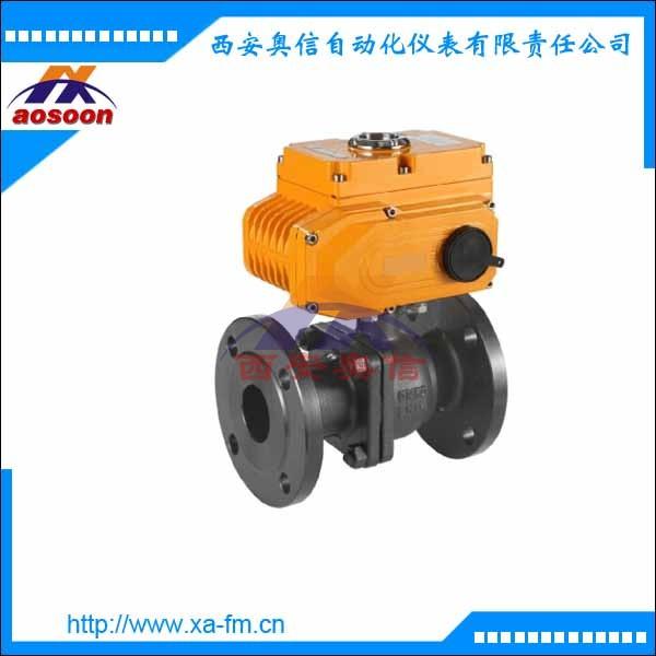 AXULI-20A-0-100P电动球阀 电动法兰球阀