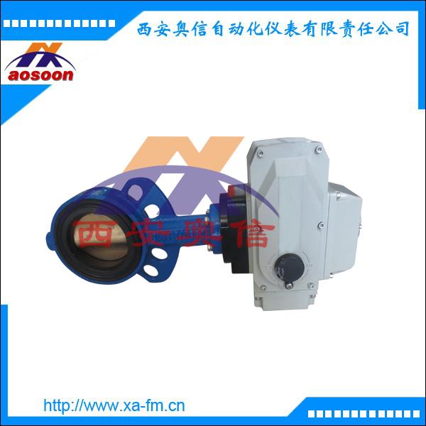 AXULI-20A-Q80-C电动蝶阀 电动对夹式蝶阀